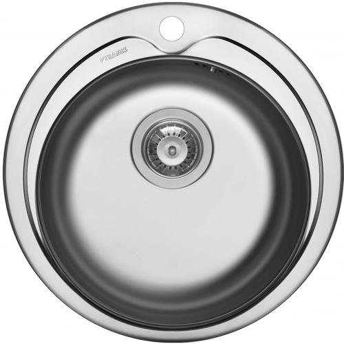 PYRAMIS Küchenspüle Kiba (Ø485) 1B Edelstahlspüle / Rundbecken Siebkorb als Stopfenventil