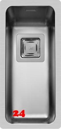 Pyramis Küchenspüle Lume (17x40) 1B Unterbauspüle mit Siebkorb als Stopfen- oder Drehknopfventil