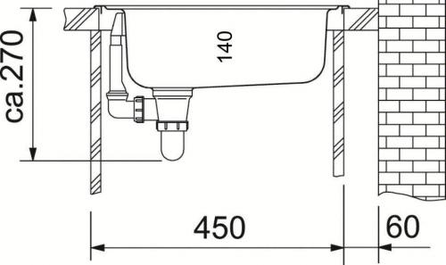 FRANKE Küchenspüle Eurostar ETN 610 Edelstahlspüle / Einbauspüle mit Gummistopfen