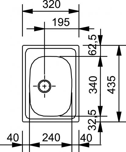 FRANKE Küchenspüle Eurostar ETX 610-30 Einbauspüle mit Stopfenventil