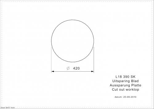 REGINOX L18 390 VP-CC 10cm TIEF Einbauspüle Edelstahl mit Flachrand ohne Überlauf med. Bereich