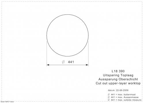 REGINOX L18 390 KG-CC Einbauspüle Edelstahl mit Flachrand ohne Überlauf medizinischer Bereich