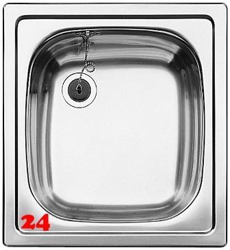 BLANCO Küchenspüle TOP EE 4x4 Edelstahlspüle / Einbauspüle Ablauf mit Gummistopfen