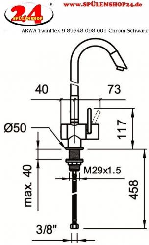 ARWA TwinFlex 9.89548.098.001 Chrom-Schwarz