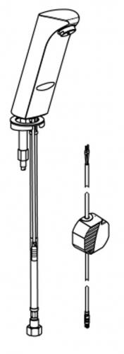 franke aquarotter protronic s waschtisch armatur aqua135. Black Bedroom Furniture Sets. Home Design Ideas
