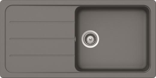 SCHOCK Küchenspüle Formhaus D-100L Cristalite® Granitspüle / Einbauspüle Basic Line in 4 Farben mit Drehexcenter