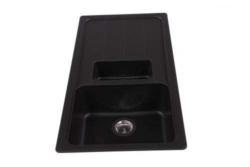 SCHOCK Küchenspüle Formhaus D-150L Cristalite® Granitspüle / Einbauspüle Basic Line in 4 Farben mit Drehexcenter