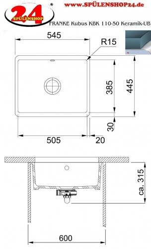 franke kubus kbk 110 50 ub keramik jetzt versandkostenfrei bestellen im sp lenshop24. Black Bedroom Furniture Sets. Home Design Ideas