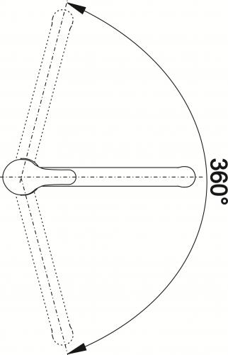 BLANCO Küchenarmatur Vitis Chrom Einhebelmischer / Spültischarmatur mit Festauslauf 360° schwenkbarer Auslauf