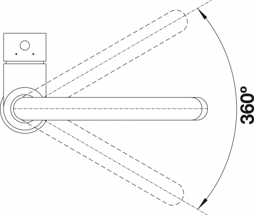BLANCO Küchenarmatur Mida Chrom Einhebelmischer / Spültischarmatur mit Festauslauf 360° schwenkbarer Auslauf