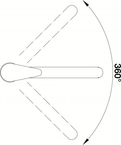 BLANCO Küchenarmatur Daras Chrom Einhebelmischer mit Festauslauf 360° schwenkbarer Auslauf Niederdruck