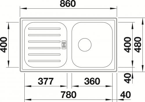 BLANCO Küchenspüle Flex Pro 45-S ohne Hahnlochbohrung Edelstahlspüle mit Siebkorb als Stopfenventil