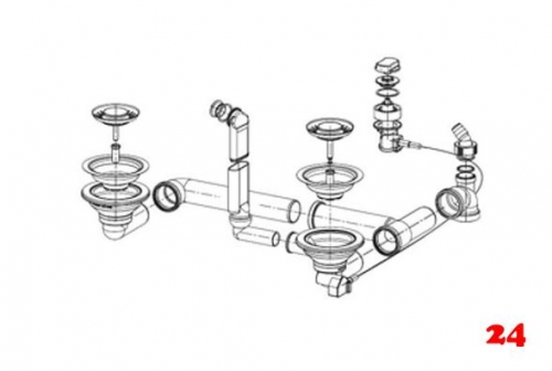 franke basis ablaufgarnitur komplett 1120059713 komplette ab und berlaufgarnitur mit. Black Bedroom Furniture Sets. Home Design Ideas