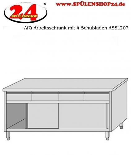 AfG Arbeitsschrank mit 4 Schubladen (B2000xT700) ASSL207