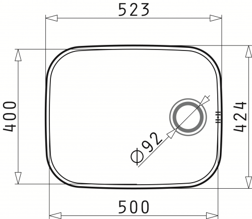 PYRAMIS Küchenspüle Iris (50x40) 1B Unterbauspüle / Edelstahlspüle mit Siebkorb als Stopfenventil