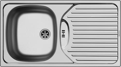 PYRAMIS Küchenspüle ET78 (78x43,5) 1B 1D Einbauspüle / Edelstahlspüle mit Stopfenventil