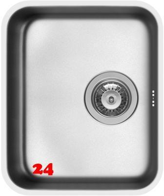 PYRAMIS Küchenspüle Relia (33x40) 1B Unterbauspüle mit Siebkorb als Stopfenventil