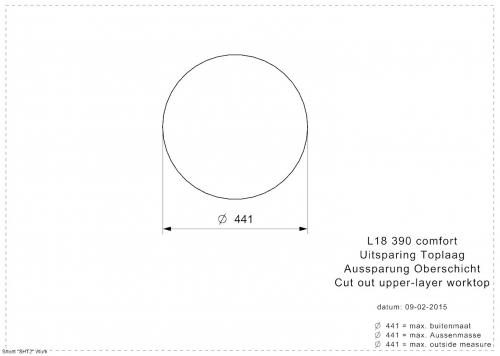 REGINOX L18 390 Comfort Einbauspüle / Rundbecken 3 in 1 Siebkorb als Stopfenventil