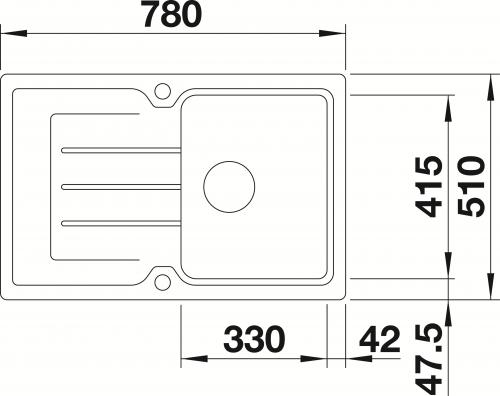 x BLANCO Classic Neo 45-S ALUMETALLIC