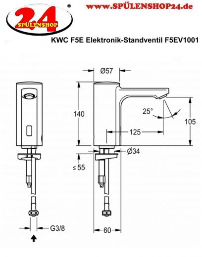 FRANKE F5E Elektronik Standventil F5EV1001