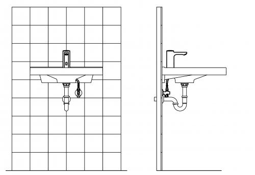 FRANKE F5E Elektronik Standventil F5EV1001 DN 15 für Waschanlagen, opto-elektronisch gesteuert