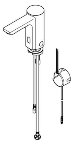 FRANKE F5E Elektronik Standventil F5EV1003 DN 15 für Waschanlagen, opto-elektronisch gesteuert