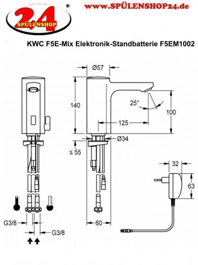 FRANKE F5E-Mix Elektronik Standbatterie F5EM1002 DN 15 für Waschanlagen, opto-elektronisch gesteuert
