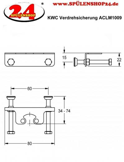 FRANKE Verdrehsicherung ACLM1009
