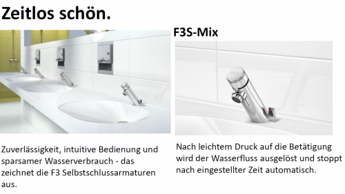 FRANKE F3S Selbstschluss-Standventil F3SV1001 DN 15 für Waschanlagen