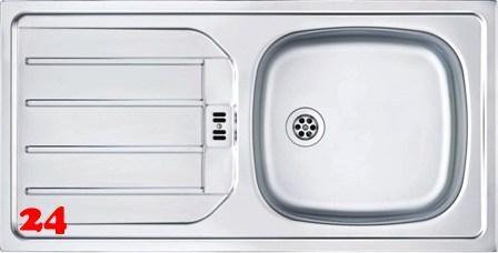 FRANKE Küchenspüle Euroset ESN 614 Nova Einbauspüle mit Gummistopfen