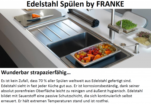 {LAGER} FRANKE Küchenspüle Eurostar ETN 611-58 Einbauspüle mit Gummistopfen
