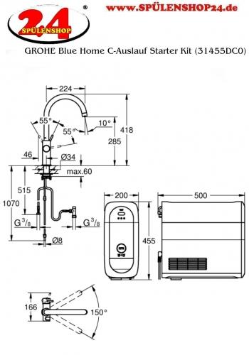 GROHE Blue Home C-Auslauf Starter Kit (31455DC0)