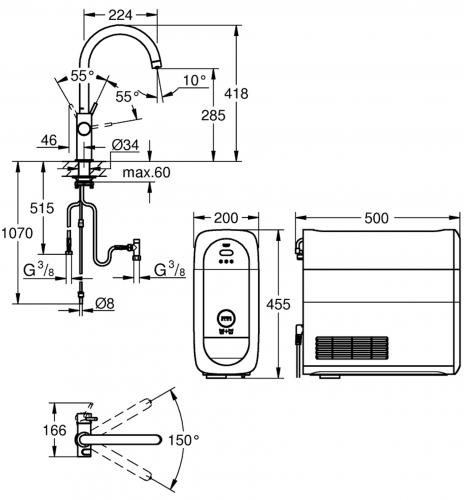GROHE Blue Home L-Auslauf Starter Kit (31454DC1)