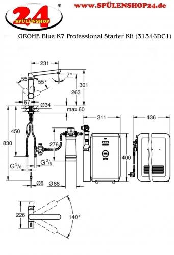 GROHE Blue K7 Professional Starter Kit (31346DC1)
