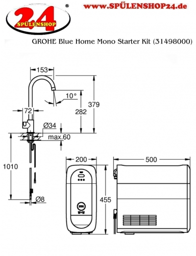 GROHE Blue Home Mono Starter Kit (31498001)