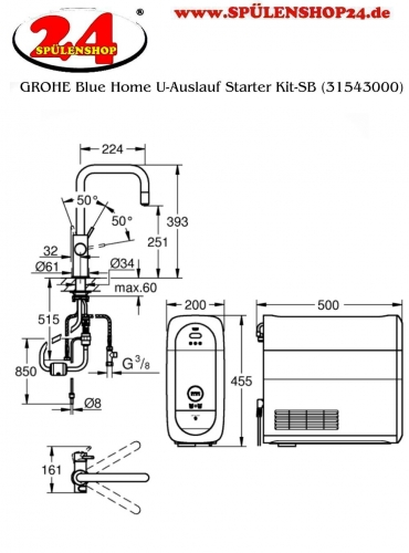 GROHE Blue Home U-Auslauf Starter Kit-SB (31543000)