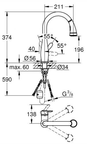 GROHE Parkfield Chrom-SB (30215001)