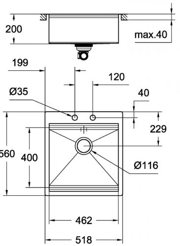GROHE Spülbecken K800 60-S 51,8/56 (31583SD0)