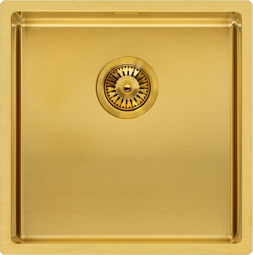 REGINOX MIAMI 40x40 Gold Beschichtung Einbauspüle Edelstahl 3 in 1 mit Flachrand PVD Technik