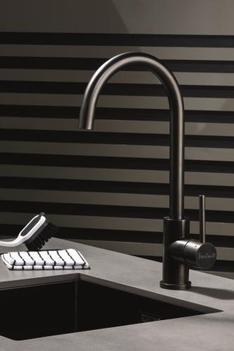 REGINOX CANO Gun Metal (R30486) Küchenarmatur / Einhebelmischer Oberfläche Schwarz matt