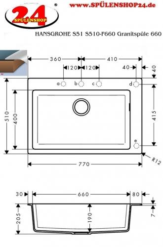 HANSGROHE C51 C51-F660-07 Granit Spülencombi (43218000) 660