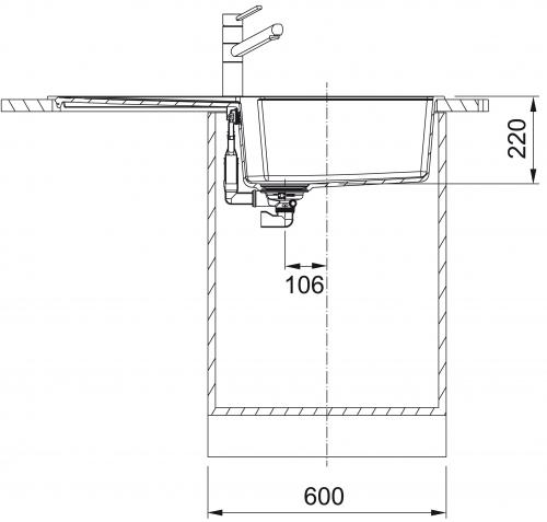 x FRANKE Küchenspüle Urban UBG 611-100 Fragranit+ Einbauspüle / Granitspüle Flächenbündig mit Drehknopfventil