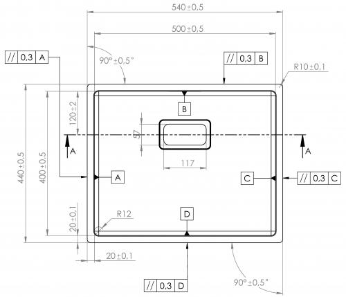 {Lager} BERNUS VENIXX BA50 Einbauspüle 3 in 1 mit Flachrand Siebkorb als Stopfenventil