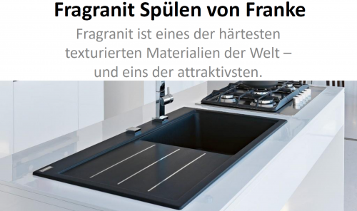 FRANKE Küchenspüle Kubus KBG 110-16-UB Fragranit+ Granitspüle / Unterbauspüle Siebkorb als Stopfenventil