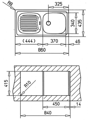 {Lager} TEKA Küchenspüle Basic 45 CN Einbauspüle / Edelstahlspüle mit Siebkorb als Stopfenventil