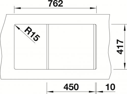 {Lager} BLANCO Küchenspüle Favos Mini Silgranit® PuraDur®II Granitspüle / Einbauspüle Farbe Champagner