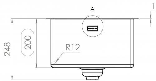 {Lager} BERNUS CUBIXX II 340 SOFT HLB Küchenspüle / Edelstahlspüle mit Flachrand Siebkorb als Druckknopfventil