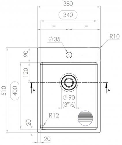 {Lager} BERNUS MEDICAL CUBIXX 340 SOFT HLB Edelstahlspüle mit Flachrand ohne Überlauf für medizinischen Bereich