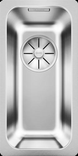 BLANCO Küchenspüle Solis 180-U Edelstahlspüle / Unterbaubecken mit Ablaufsystem InFino und Handbetätigung