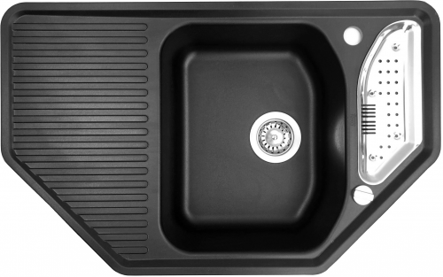 {LAGER} TEKA Texina 45 E-TG Tegranit Einbauspüle / Granitspüle mit Drehknopfventil Farbe: Schwarz